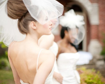 Bubble Wedding Veil -- Bridal Veil, Available in other shades