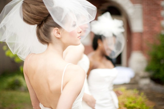 Ivory Wedding Veil -- Classy Bubble Veil Available in other shades