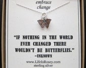 Butterfly Charm Necklace - Butterfly Jewelry - Going Away Present - Divorce Gift - New Job Gift