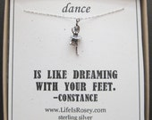 Ballet Necklace - Dance Gift - Ballet Jewelry - Recital Gift - Ballet Dancer Charm Necklace