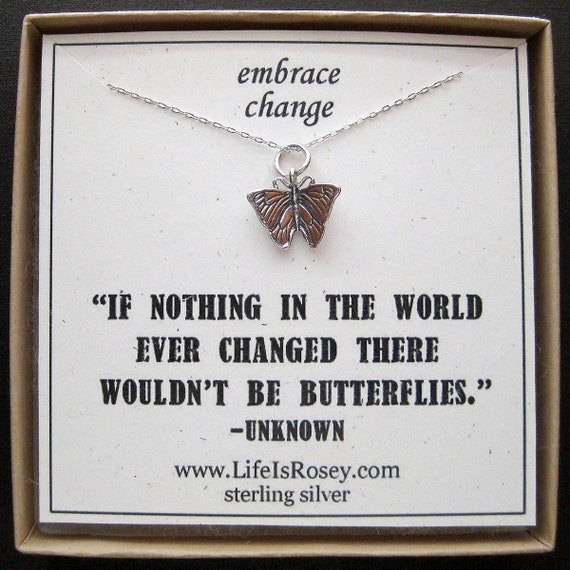 Items Similar To Butterfly Charm Necklace Butterfly