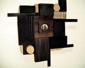 Reclaimed Wood Wall Art Sculpture - OOAK One of a Kind - Irondogmercantile