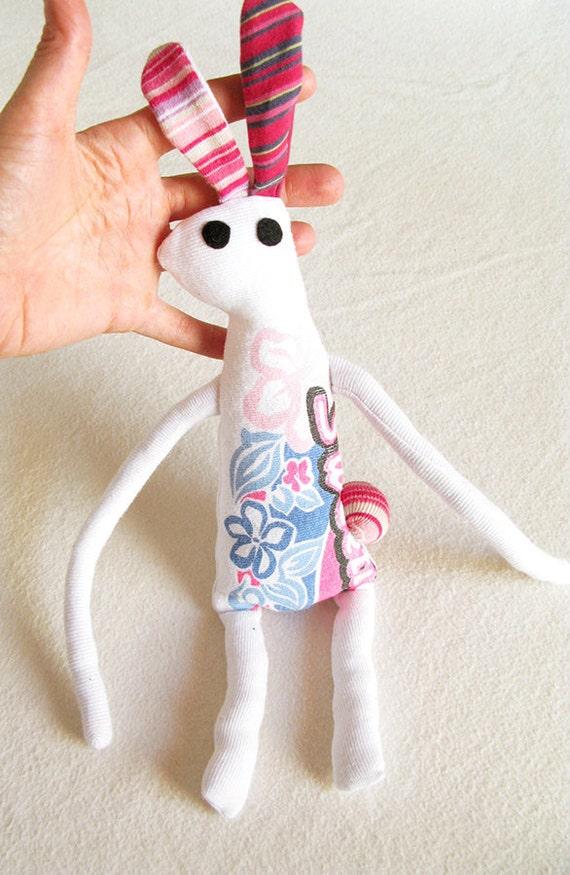 Plush Rabbit Recycled Fabric, BEAST-TEE Family