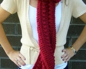 Chunky Scarlet Red Scarf