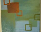 sky/olive squares