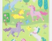 New Mrs. Grossman's Beautiful Unicorn Large Sticker Sheet