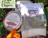Organic Herbal Dusting Body Powder- Herbal blend- Trial Size/Sample Size, - Body Powder Sampler,Bath Powder Samples