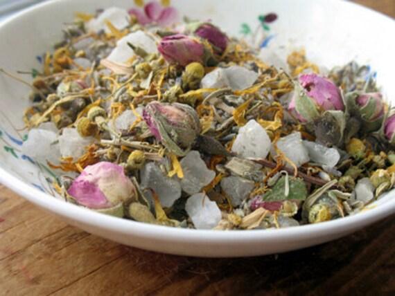 Herbal Bath Salts | Herbal Bath Soak | Herbal Spa Treatment | Sweet Sleep Bath Soak | Lavender Bath Salts | with muslin bag