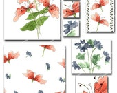Floral Summer Clip Art with 8 Matching Papers (No. 100)