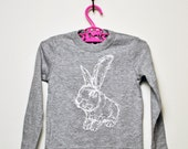 White Rabbit L/S Toddler Tee- Grey