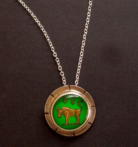 Taurus Constellation Necklace: Items Similar To Taurus Zodiac Necklace, Taurus Charm