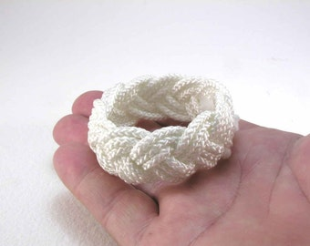 white nylon rope bracelet sailor bracelet turks head knot rope jewelry nautical jewelry armband 1614