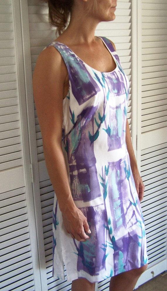 vintage clothing hawaiian dress sleeveless column mini dress