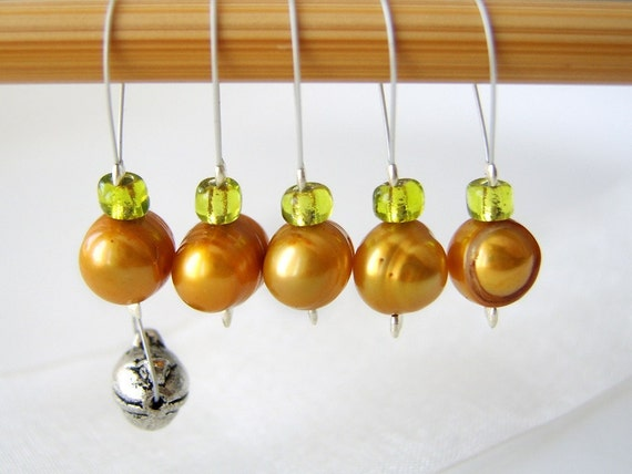 The Frog Prince - Fairy Tale Series - Five Snag Free Stitch Markers - Fits Up To 5.5mm (9 US) - Limited Edition