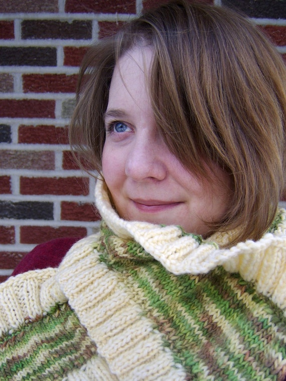 SALE - Little Sweet Aysen - Handknit Alpaca Silk Merino Wool Scarf Neck Warmer