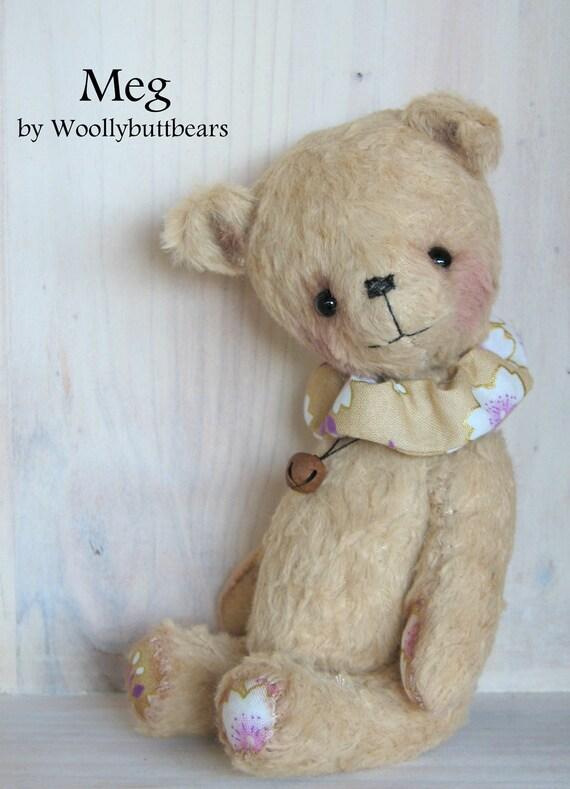 On sale Meg artist viscose bear handmade by woollybuttbears on etsy