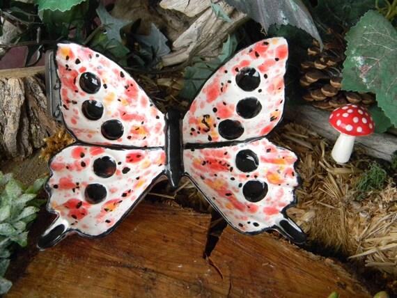 Butterfly Dish - Ceramic Glazed -