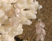 Earrings - Bella Style in Rose Quartz Gemstone
