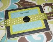 Printable Invitation/Notecards-Black, Green, Turqoise
