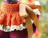 Neck Warmer - Pumpkin Pie and Cream - Crochet Cowl