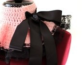 Paris Afternoon Neck Warmer - Pink and Black - French Fashion