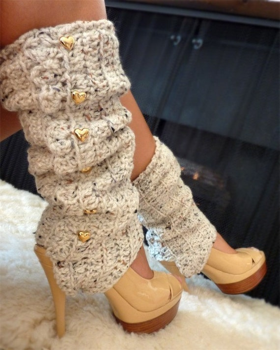 Leg Warmers with Stirrups - Oatmeal - Lots of Colors