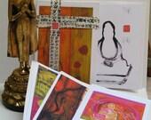Buddha Note Cards  6 pak