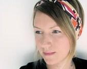The Twist Turban Headband- In Tribal Geometric Print