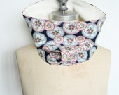 The Cowl Scarf, Neck Warmer Scarf in Boho Floral print