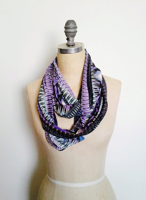 The Infinity Scarf in Purple Aztec Print