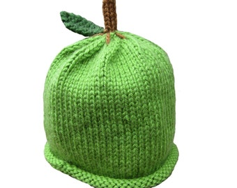 Green Apple Hat - Baby to Adult