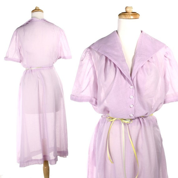 Lilac Breeze Vintage Dress - Cool and Sweet - sz Large