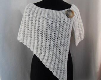 Asymmetrical knitted wrap (shawl)