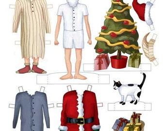 Santa Claus Paper Doll PDF Download