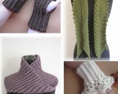 PDF Crochet Pattern- Easy and Elegant Crocheted Accessories  (4 different designs)