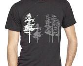 Heather tri-blend Black Hemlock Shirt, short sleeve t-shirt, screenprint, sexy nature loving design, see listed sizes