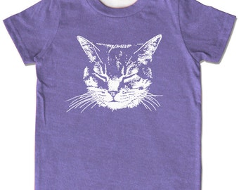 Cat Shirt, Kids Cat shirt, Purple Cat t-shirt, Meow Kitty Shirt, Cat Clothing Cat tee Children's Cat Shirts Kitty Shirt Toddler Kitten Shirt