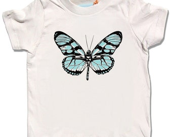 Butterfly Shirt, Cute Kids Butterfly t-shirt, organic baby clothes, children's clothing, girls nature clothes, baby girl, insect shirts