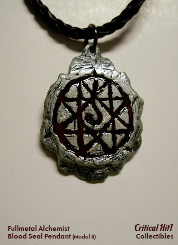 Blood Seal Pendant (Model S) - Anime Jewelry