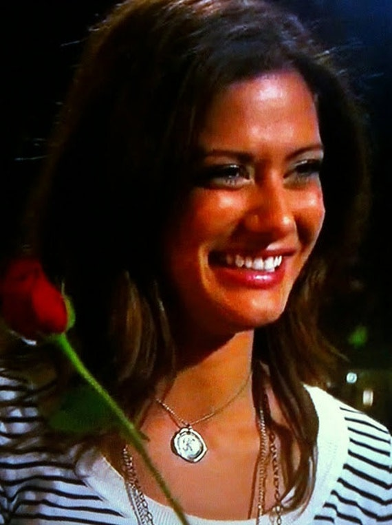 As Seen on Kacie B. on The Bachelor - Wax Seal Pendant -  letter of your choice monogrammed initial