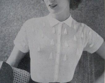 Vintage Needlecraft Magazine 1950s Sewing Crochet Knitting Patterns 50s - Needlewoman and Needlecraft No 67 July 1956