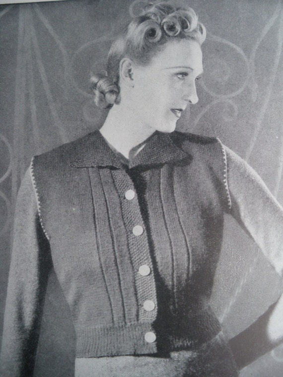 Vintage Knitting Patterns 1930s 1940s Book The by ...