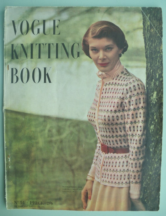 Vintage Vogue Knitting Pattern Books : Vogue Knitting Book 1940s Vintage Patterns No. by ...