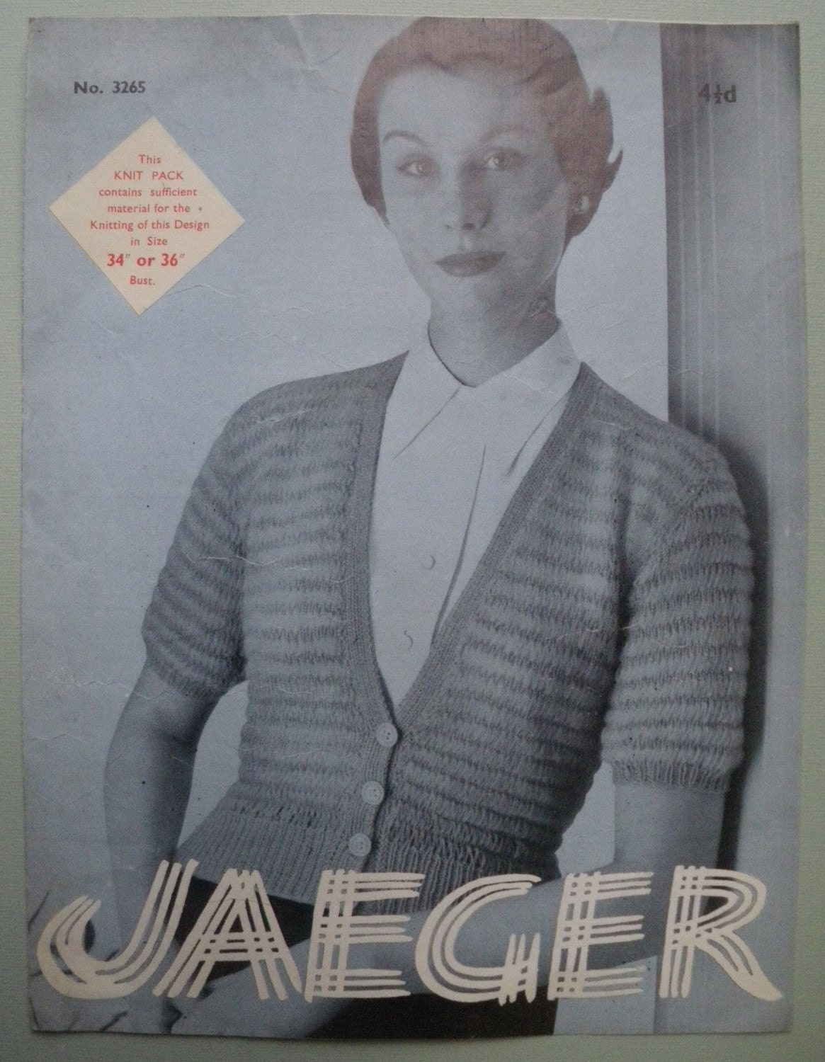 Vintage Knitting Pattern 1940s 1950s Womens by sewmuchfrippery