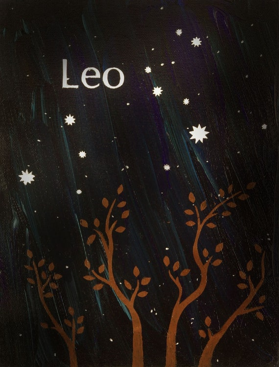 Leo - Zodiac Constellation Postcard Print