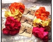 French Market Ribbon - Seam Binding - Distressed - ANTIQUED - Hand Dyed - Crinkled - Candy Queen - French Market - xo, j&L (SBHD S018)