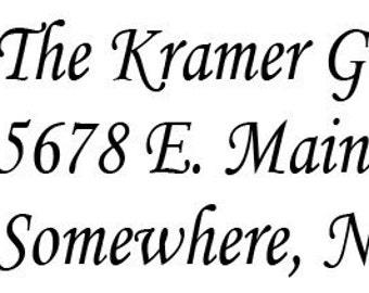 Kids logo wooden handle rubber return address stamp