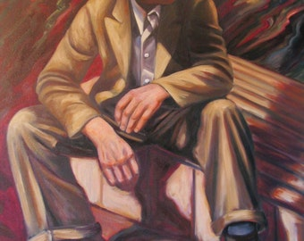 PAPA FRANK  28 x 36 Original oil on stretched canvas