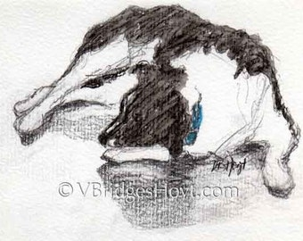 SPECIAL Border Collie Art, Black and White Dog, collectible Texas artist, Watercolor painting