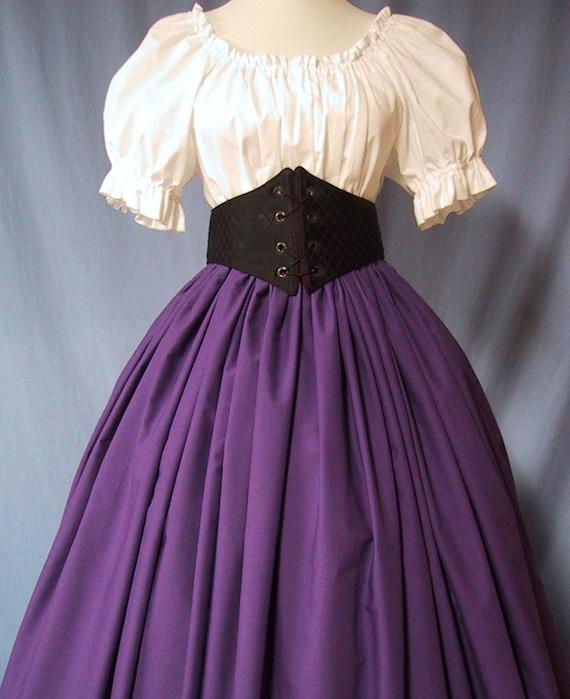 Long Skirt for Costume in Purple - RenFaire Costume - Pirate Wench - Renaissance Faire - Victorian Event - Civil War Reenactment - Handmade